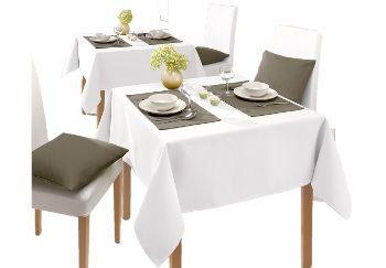 Table linen white